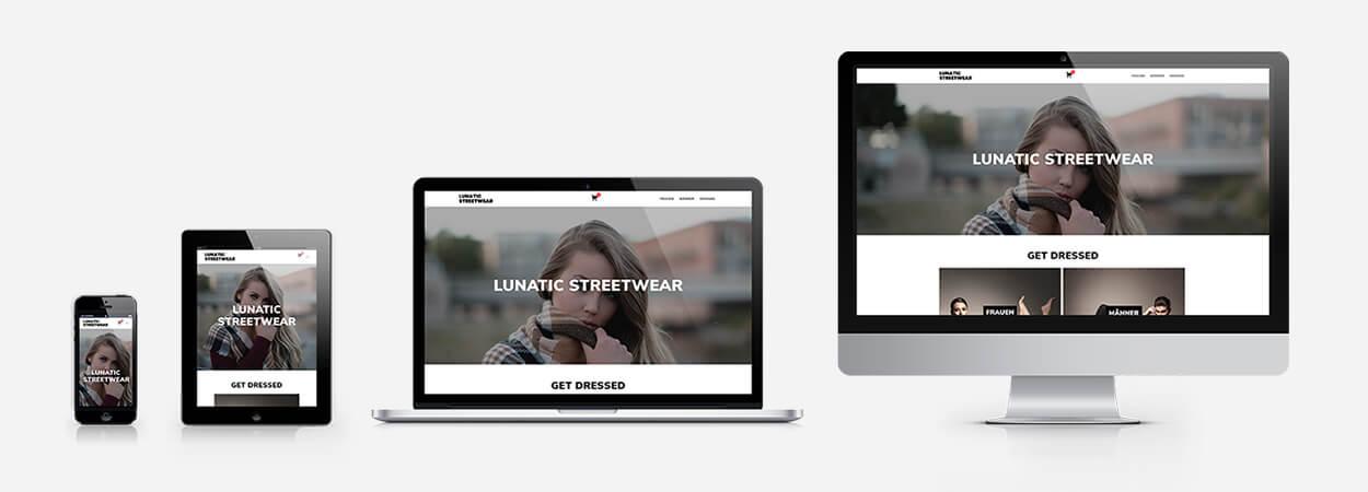 Lunatic Streetwear - Responsive Webdesign Referenz