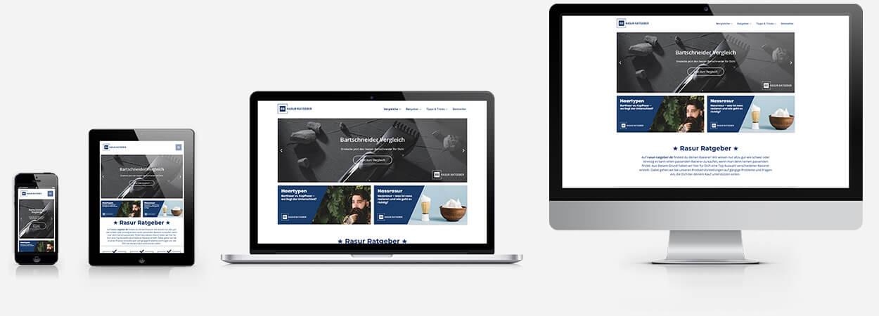 Rasur Ratgeber - Responsive Webdesign Referenz